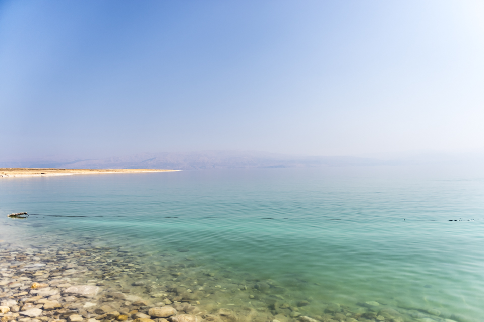 View from the shores of the Dead Sea